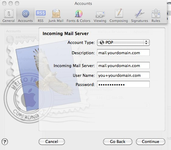 How to configure Mac Mail